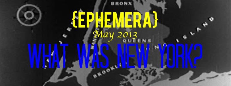 EPHEMERA3